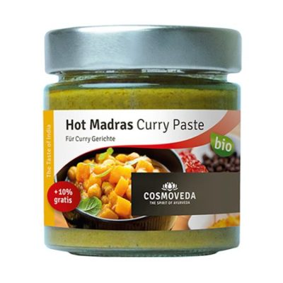 cosmoveda hot madras curry paste karry pesto økologisk