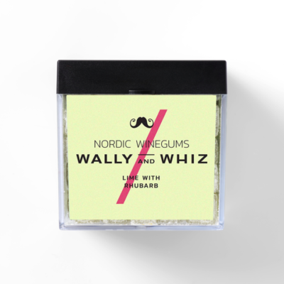 wally and whiz nordic gourmet winegums lime rhubarb rabarber