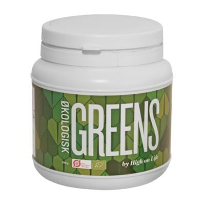 økologisk greens by high on life mads bo havregræs chlorella kamutgræs spirulina smoothies juicer grønt pulver