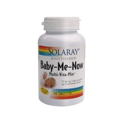 solaray graviditet baby me now nu multivitamin amning tabletter kvinder